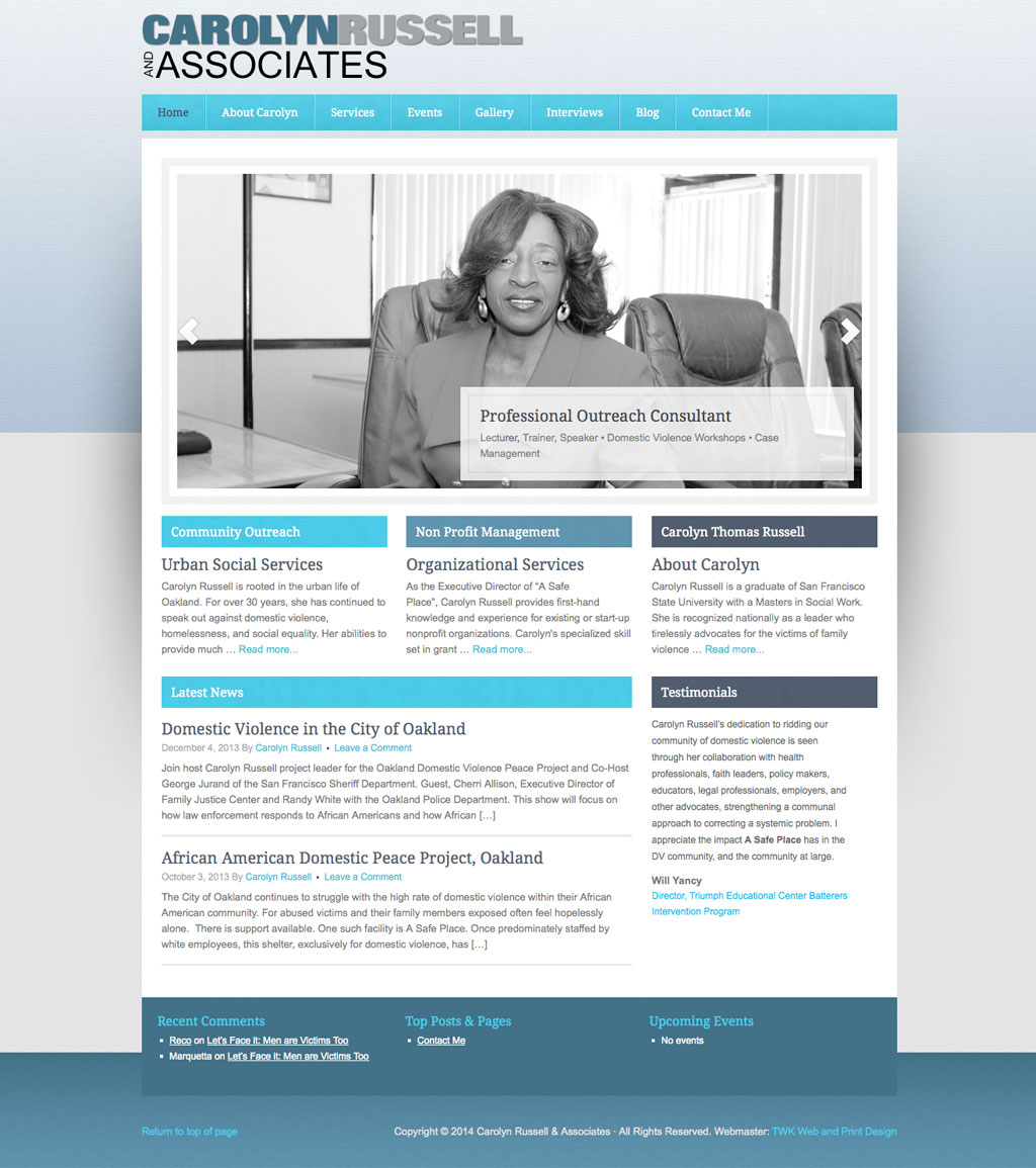 Carolyn Russell & Associates home page