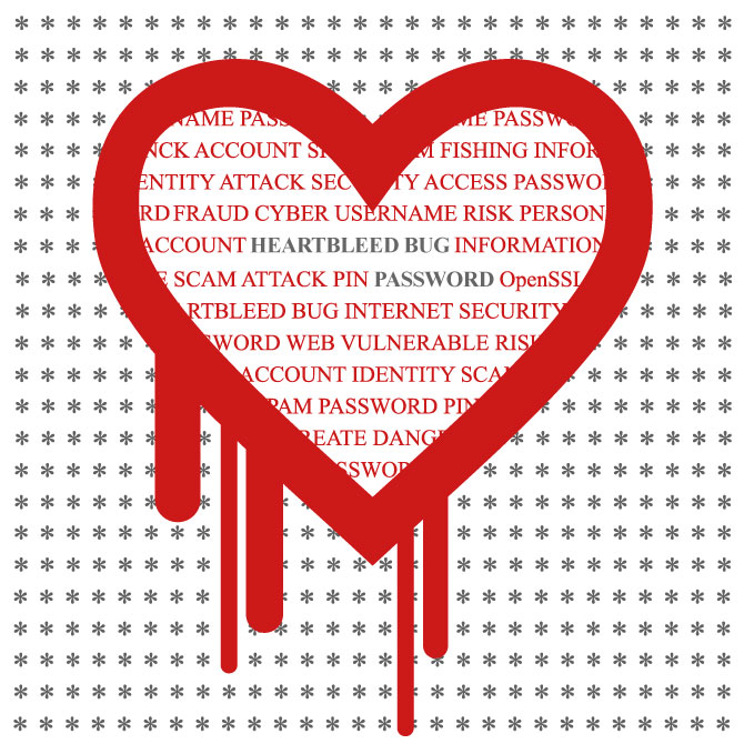 Heartbleed bug graphic