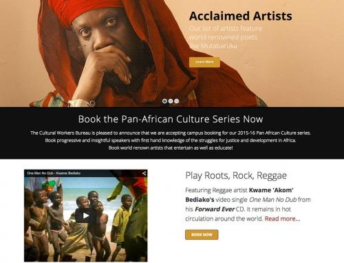 Cultural Workers Bureau Website Redesign