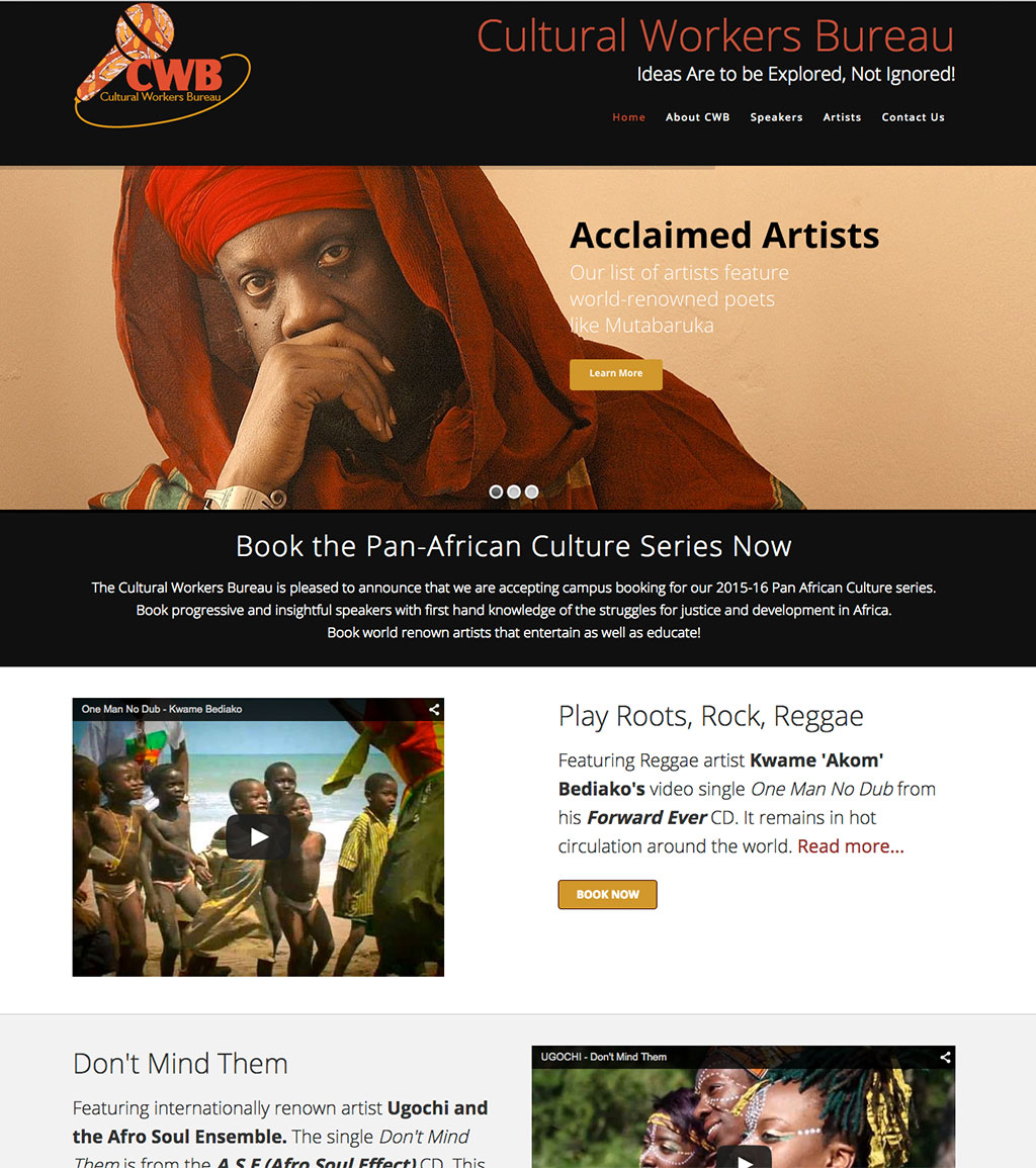 Cultural Workers Bureau web site